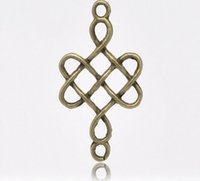 Wholesale Bronze Ancient China - infinity ancient bronze China node connector 31x18mm DIY infinity folk style bracelet accessories diy jelwery popular handmade jelwery