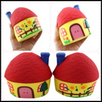 Wholesale House Gadget - New Arrival Jumbo Squishy Toys 12.5*10.5cm Red House Decompression by Pressing Montessori Edu Gadgets Free Shipping