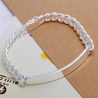 Wholesale Men Silver 925 Leather - Free shipping, fashion new bracelet, like 925 sterling silver men 8 mm leather bracelet