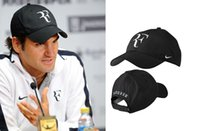 Wholesale high trade - Wholesale-Drop shipping classic High Quality newest foreign trade fashion tennis cap Roger Federer RF Tennis tennis hat limited edition