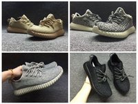 Wholesale Womens Oxfords Lace Ups - With Box 2017 350 V1 Boost High quality Kanye West Pirate Black Turtle Dove Moonrock Oxford Tan Pink Boots Mens Womens Running shoes
