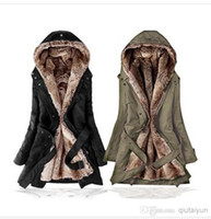 Wholesale Ling Winter Coats - Hot sell! New Hooded Women's Fur Winter With Faux Fur Ling Long Coat Outerwear WY268
