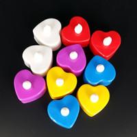 Wholesale Candle Married - Flash electronic LED candle light-emitting toys flash candle romantic candle table white light emitting phosphor marry