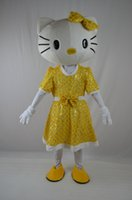 2016-new Christmas lovely fancy dress Frozen giallo ciao kitty Costumi Mascot halloween easter Performance Animal adulti costumi per ragazzi