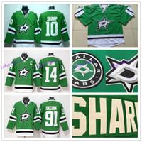 Wholesale Kids Size Hockey Jerseys - Youth Hockey Jerseys Dallas Stars Kids Green 10 Patrick Sharp 14 Jamie Benn 91 Tyler Seguin Best Quality Size S M L XL