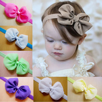 Wholesale Cheap Baby Girl Jewelry - OUTLETS!sale kids Hair Accessories,Chiffon bow hair princess hair band,cheap girls hair accessories,baby headwear,fashion jewelry.20 pcs.QF