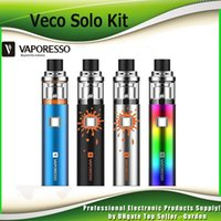 Wholesale Cigarette Refills - Original Vaporesso Veco Solo Starter Kits 2ml Top Refilling 1500mah Battery Vape Pen Style AIO E Cigarette Kits 100% Authentic