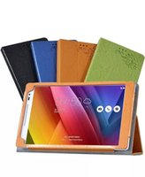 Wholesale Case For Asus Tablets - 1pc Luxury Flower Printed PU Leather Case for ASUS ZenPad 8.0 Z380C Z380KL Z380 Tablet 8 inch Cover + Screen Protector Protective Film