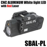 lanternas de rifle tático venda por atacado-Tactical CNC Making SBAL-PL Luz Branca Gun Light Gun Com Pistola Laser Vermelho / Rifle Lanterna Preto