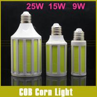Wholesale E14 15w Cob Corn - CREE Chip 10W 15W 25W COB SMD LED Corn Bulb Light E27 E14 led bulb Lamp Cool Warm White 220V 110V 360 Degree Spot Light