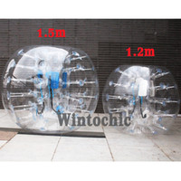 Wholesale Zorb Soccer Balls - NEW 1.2M 1.5M Body Inflatable Bubble Soccer Ball Bumper Football Zorb Ball Human The best PVC 0.8mm