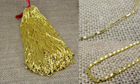 Wholesale Vietnam Gold - New! Electroplate Vietnam sand Gold Necklaces Hollow chains Safety without stimulation Shining Imitation gold Necklaces Length 16 inch 2 mm