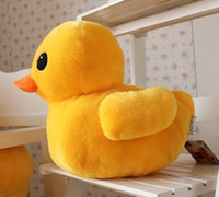 """Wholesale Toy Yellow Soft Duck - Wholesale Cheap 50cm(20"""") Giant Yellow Duck Stuffed Animal Plush Soft Toys Cute Doll Pillow"""