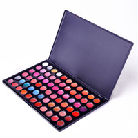 Wholesale Professional 66 Lipstick - Multicolor Makeup 66 Colors Professional Glitter Eyeshadow Lipstick Palette Lipstick Tint Beauty Accessories X60*HJ0337W#S1
