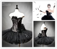 Wholesale Jeweled Ball Gown Prom Dresses - Wholesale - Custom Black Swan Ballet Costume Burlesque tutu Jeweled Feather Prom Dresses Halloween Dresses Christmas Party Dresses Black Sw