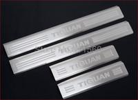 edelstahl tür vw großhandel-Fit für VW Volkswagen TIGUAN 2009 2011 2012 Edelstahl Einstiegsleisten Scuff Plate Threshold