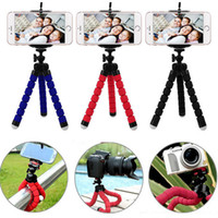Wholesale Iphone Camera Tripods - Octopus Style Portable and Adjustable Tripod Stand Holder for IPhone Cellphone Camera with Universal Clip and Remote