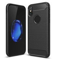 Wholesale Iphone Mate - For Samsung A7 2018 Carbon Fiber Case Rugged Armor Cover for iPhone X 8 7 LG Q6 Huawei Mate 10 Pro Opp