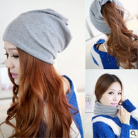 Wholesale Skull Toe Caps - Wholesale-2015 NEW Autumn Hat Female Pocket Hat turban Cap Covering toe cap Thin dual cap Discount one piece 5 colors Free shipping