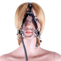 Wholesale Woman Harness Bdsm - Harness Spider Metal Ring Gag BDSM Slave Gags with Nose Hook Bondage Gear Adult Sex Products for Women ASL-KQ0264