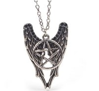 Wholesale Ward Off Evil - 2016 Evil Force Supernature Pentagram Bronze Ancient Silver Necklace Amulet to Ward Off Bad Luck New Arrival Popular Movie jewelrZJ-0903228
