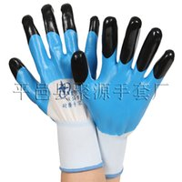 Wholesale Nitrile Rubber Glove - Anti - skid wear resistance work gloves Nitrile Rubber Buna Gloves Working Protective Cut-Resistant Anti Abrasion Safety Army-Grade