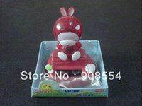 Wholesale China Solar Toys - Wholesale-hot selling Free shipping via China Post Air Mail novelty solar toy head swing under sunshine and lamp light