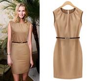 Wholesale New Style Professional Dresses - 2016 Europe and the new professional style sleeveless dress Slim S--XL