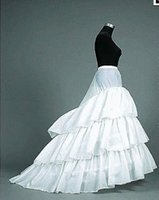 Wholesale Petticoats Train - White Bridal Petticoats in stock undergarment mermaid train wedding petticoats 3-Hoop 3 Ruffles Bridal Accessories Hot Sale HY
