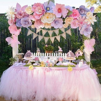 fiesta nupcial tutu al por mayor-2015 rosa caliente rosa mesa de tul falda tutu decoraciones de mesa para boda evento cumpleaños fiesta de bebé duchas de novia tutú suministros de boda