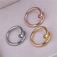 "Wholesale Bands Nail Fine - Wholesale-HOT Fine Stainless Steel Screw nail Finger Ring Fashion star models of style Korean drama ""You come from the stars"""