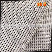 Wholesale Ss6 Diamond - Wholesale-SS6 Clear Rhinestone Trimming Iron On Transfers Diamond Mesh Strass Crystal Chain Wedding Bridal Applique 24*40cm