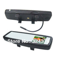 rear view mirror monitor 2ch - 4 quot Car Rear View Rearview Mirror Car Monitor CH Video Input Brand New Universal Clip on Dropship M36962