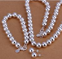 perles directes d'usine achat en gros de-Haute qualité 925 sterling silver '10MM perles de prière trois pièces - creux - ensemble de bijoux pour hommes DFMSS082 neuf usine direct 925 argent