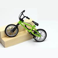 Wholesale Bike Fixie - Wholesale-Fuctional Alloy mini Finger Mountain Bikes BMX Fixie Bicycle Boy Toy Creative Game Gift