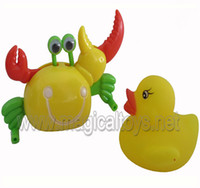 Wholesale Crab Wind Up Toy - Wholesale-Free shipping 2 ITEMS SET wholesale clockwork toys animal wind up duck and clockwork crab fun toy
