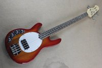 Wholesale Electric Bass Music Man - Left Handed Hot High Quality Music Man Ernie Ball Sting Ray Sunburst 9V Active Pickups 4 String Electric Bass Guitar Free shipping