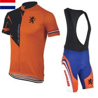 Wholesale Holland Clothes - Wholesale-2015 Newest Netherlands bike team short sleeve cycling jerseys road bike ciclismo clothing suits Holland bicycle clothes wear