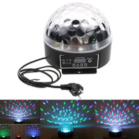 Wholesale Magic Ball Dmx 512 - Mini LED Stage Light RGB Crystal Magic Ball Effect light 6CH DMX 512 Control Pannel DJ Stage light H8383EU