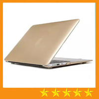 Wholesale Macbook Pro Plastic - Gold Golden Matte Hard Plastic PC Case Cover Protector Shell for Apple Macbook Air Pro with Retina 11 13 15 inch Laptop Folding free