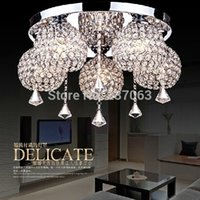 Wholesale Decoration Items Crystal - Wholesale-Free shipping NEW item crystal ceiling light lustre home decoration crystal lighting Dia55*H30cm lamparas de techo lamps