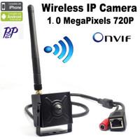 Wholesale Remote Access Cctv - mini wifi ip camera Wireless 720P Onvif HD ip camera wifi P2P Plug Play mini wifi camera ip cctv for 3.7mm pinhole lens Hi3518E