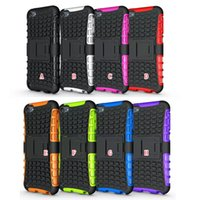 Wholesale Touch Armor - Kickstand Spider Heavy Duty For Ipod Touch 6 6G 6th 5 5G 5th Touch6 Touch5 Rugged Armor TPU+ Hard Rubber Stand Case Shockproof Square Skin
