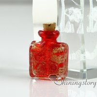 Wholesale Miniature Glass Bottles Wholesale - miniature glass bottles small urns for ashes memorial ash jewelry dog pet memorial jewelry small glass bottles for pendant necklaces