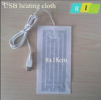 Wholesale Heated Belts - Wholesale-Belt warmer USB Electric Heating cloth 8 * 18cm new super warm pad heated for clothing calefactor para ropa