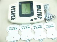 bdsm göğüs esaret oyuncakları toptan satış-Elektrik Çarpması Dijital Boyun Meme Bel Vücut Terapi Masajı Makinesi Sağlık Alet Elektro Şok BDSM Kölelik Dişli Seks Oyuncakları JR-309