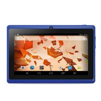Wholesale Tablet Q88pro - 7 inch A13 Upgraded Quad Core dual camera Android 4.4 tablet pc Q88pro Allwinner A33 1.5GHz WIFI bluetooth Capacitive Screen tablets