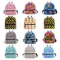 Cartoon Printing Canvas Backpacks Mini sacos escolares para mochila adolescente mochila Kids School Shoulder Bags Small Women Bag 30pcs OOA3560