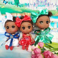 Wholesale Gi Plastics - Hot selling Cute Mini Ddung ddgirl Dolls Keychain Pendant Fashion Popular Ddung doll key buckle chain12cm Lovely cute Face Ddung Doll for gi
