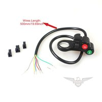Wholesale E Bike Scooter - Wholesale 7 Wires 5 Stars Headlight Speaker Horn Steering Switch 22mm Dia E-bike Electric Bicycle Scooter